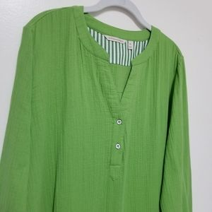 Soft Surroundings Tops - Soft Surroundings Green Tunic Pullover Top XL